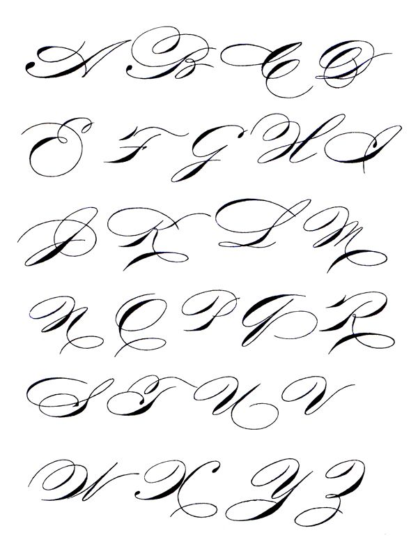 Copperplate Calligraphy Exemplars