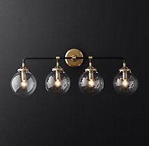 Bistro Globe Bath Sconce Light Light Pinterest Globe Bath - 4 light bathroom sconce