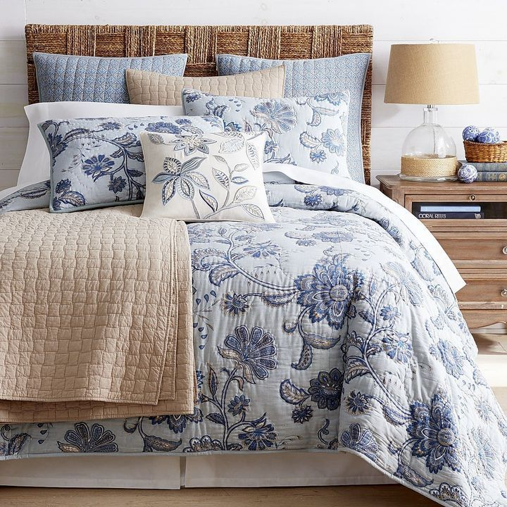 Pier 1 Imports Brightwell Blue Quilt Sham Blue Quilts Bed