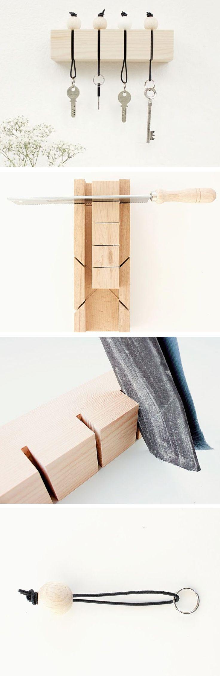 tutoriel diy fabriquer un porte cl s mural avec des. Black Bedroom Furniture Sets. Home Design Ideas