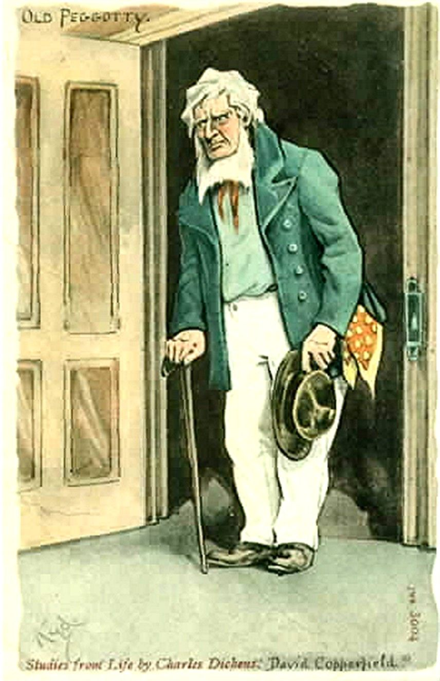 joseph clayton clarke kyd daniel peggotty david copperfield a collection of old postcards of characters from charles dickens novel david copperfield