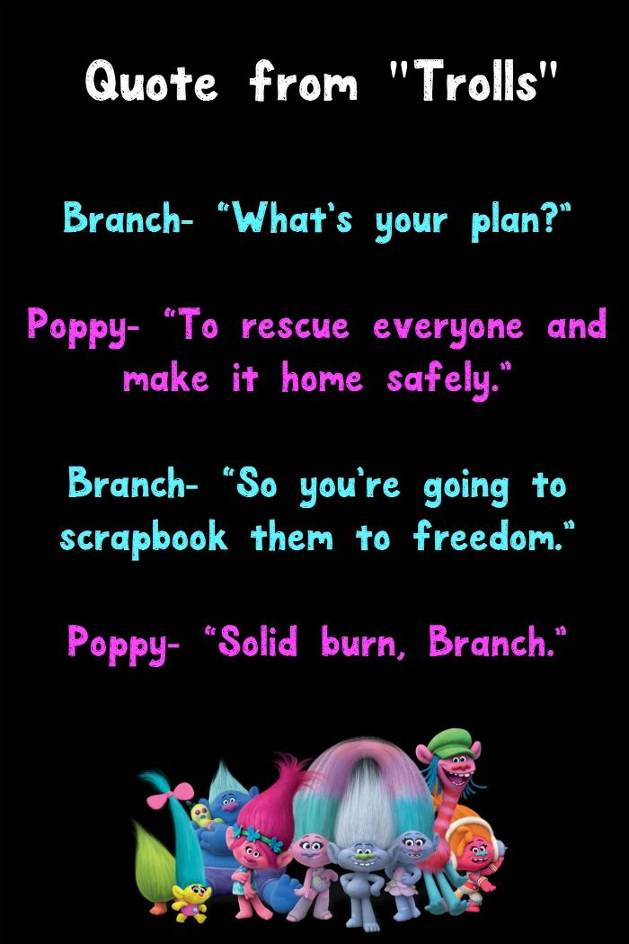 Movie Quote Trivia New Fun Facts Quotes From The 48 Trolls Movie OurFamilyWorld