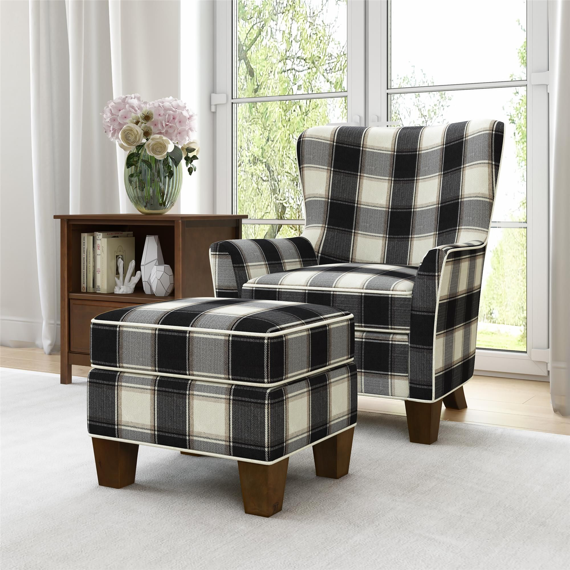 Better homes gardens grayson accent chair ottoman set