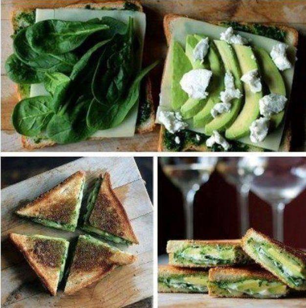 Todo lo verde en el plato.