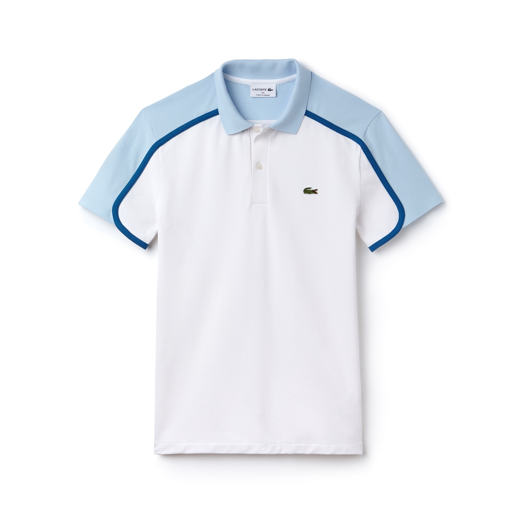10160e34 Lacoste Men's Made In France Slim Fit Piqué Polo - White/Rill-Medway ...