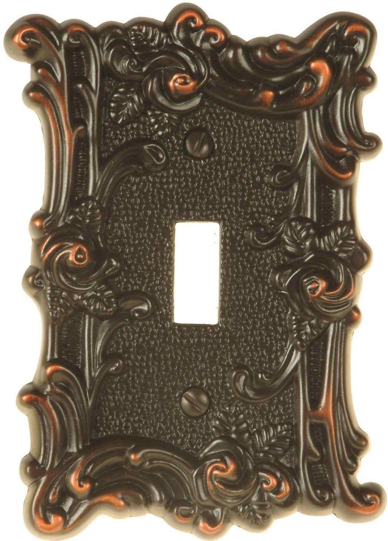 Amertac 60tvbl Provincial Single Toggle Wallplate Aged Bronze