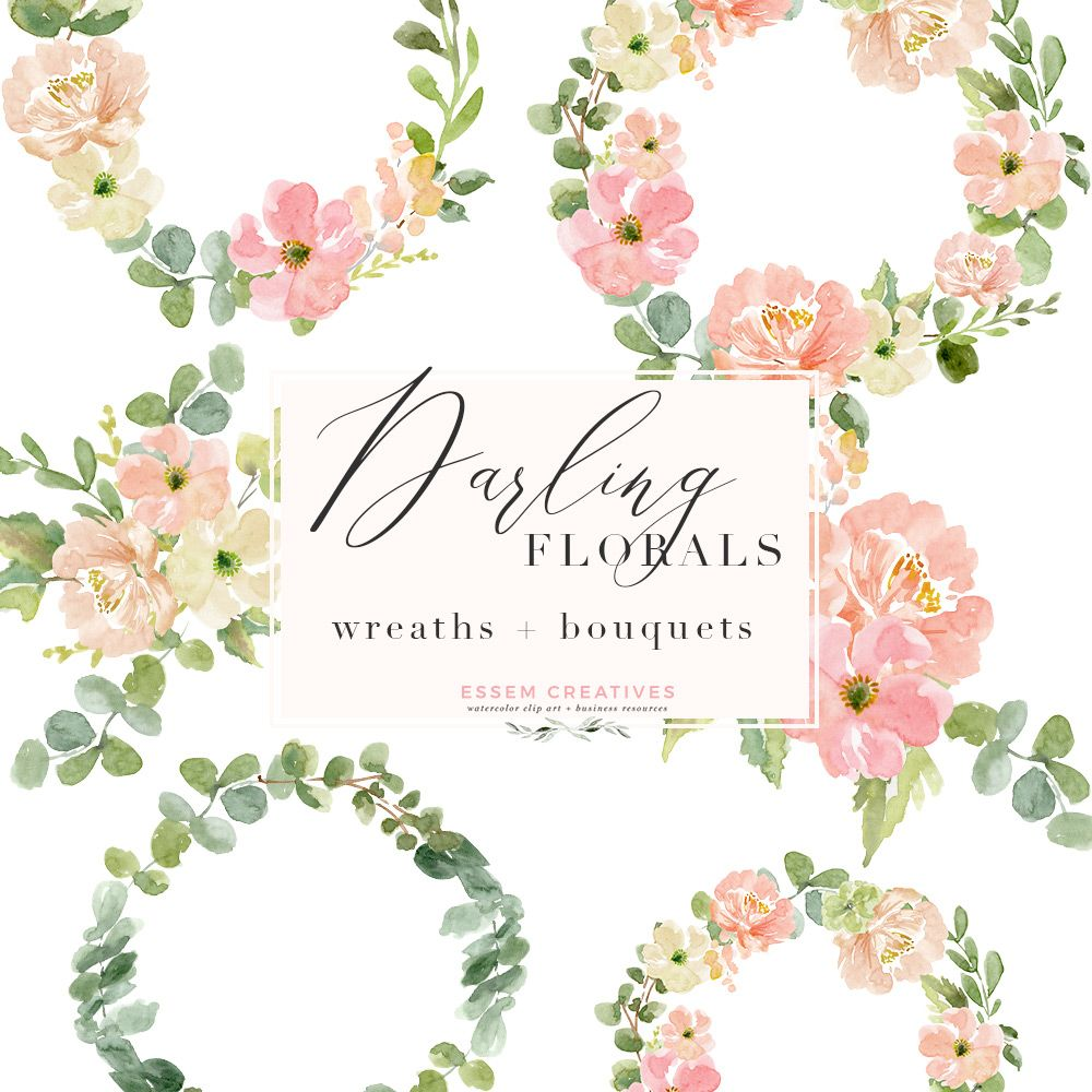 Watercolor Wreath Png Clipart Watercolor Flowers Bouquet