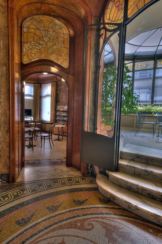 Art Nouveau Hotel Hannon Bruxelles Jules Brunfaut Intérieurs Vitraux