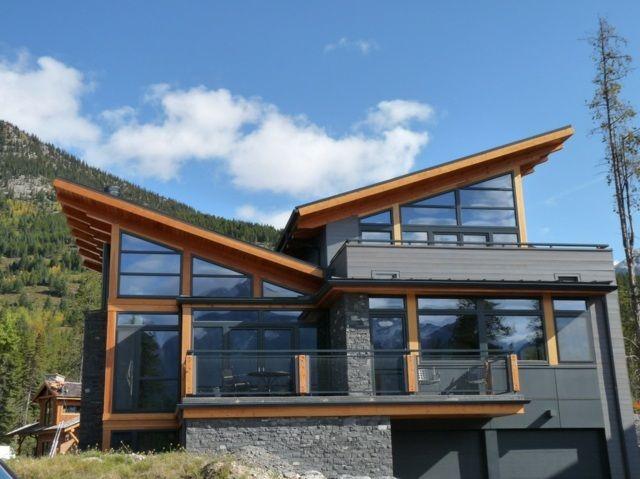 moderne Hausarchitektur Putldach Haus Vorteile Holz | Vier Wände ...
