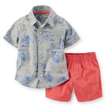 e3e0d177 2-Piece Shirt & Short Set. 2-Piece Shirt & Short Set Boys Hawaiian Shirt,  Vacation Outfits ...