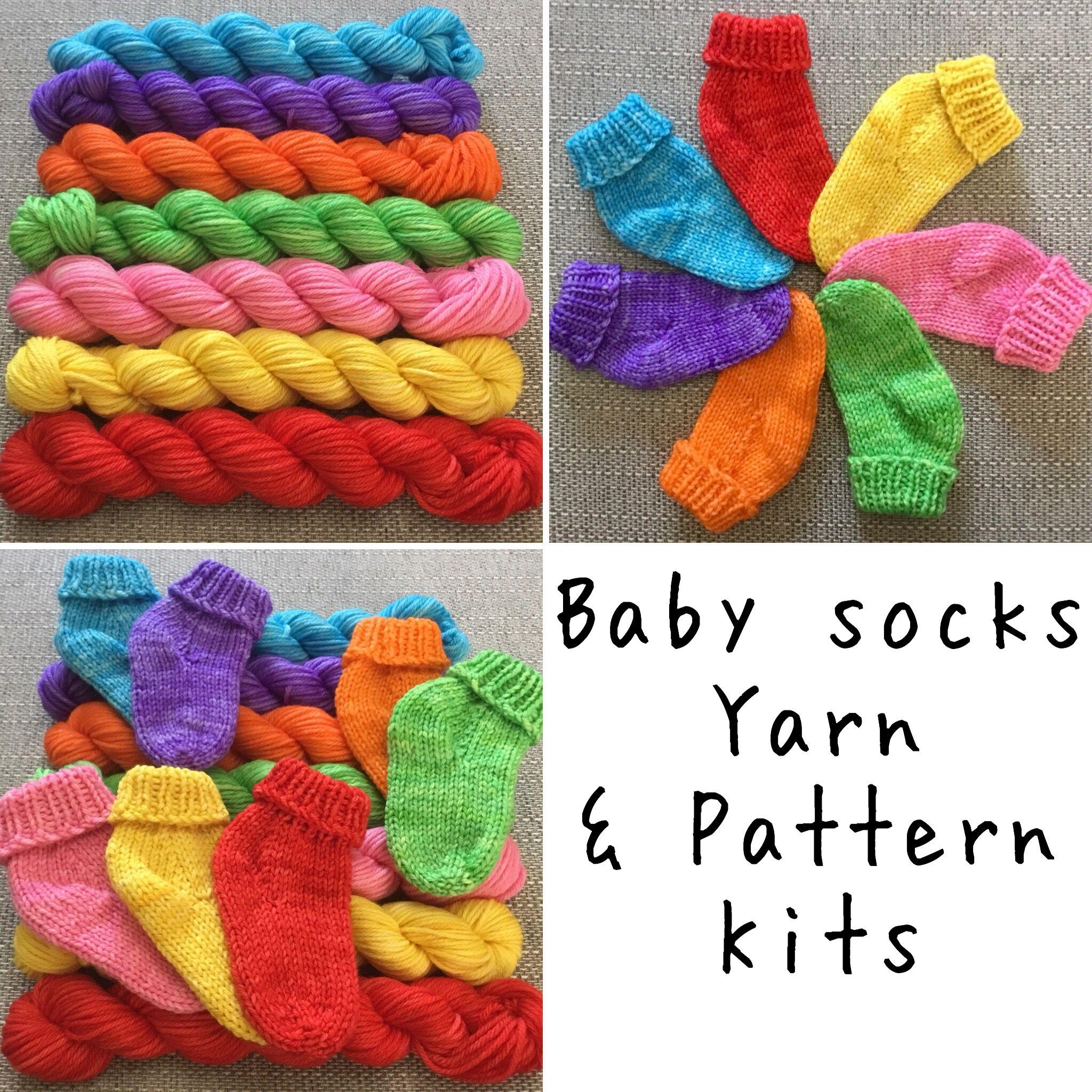 New Baby Rainbow Hand Knit Sock Kits Https Www Etsy Com Uk Shop