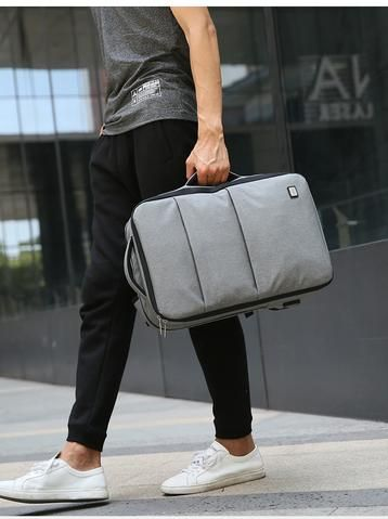 b83583323128 Waterproof USB Recharge 15 17 inch Laptop Backpack - Black