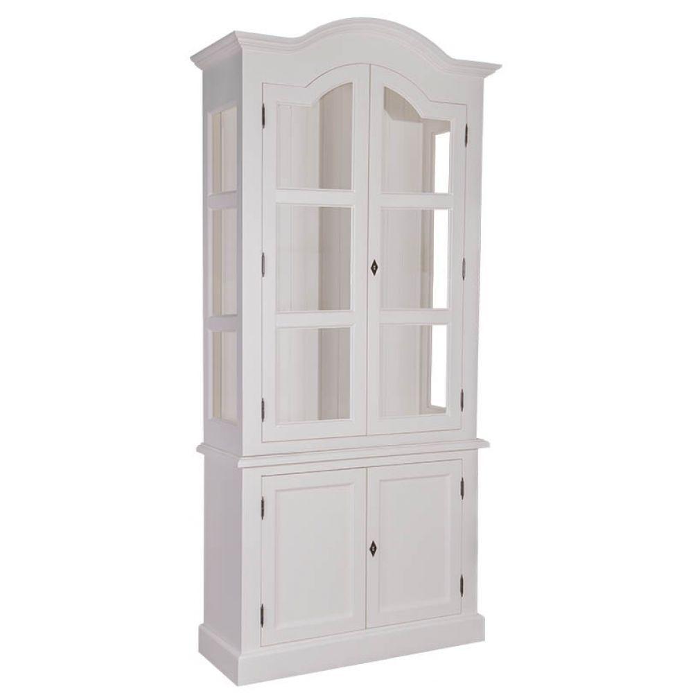 Vitrinenschrank Weiß, Creme, Französischer Landhausstil, Einrichten,  Wohnen, Wohnzimmer, Esszimmer,