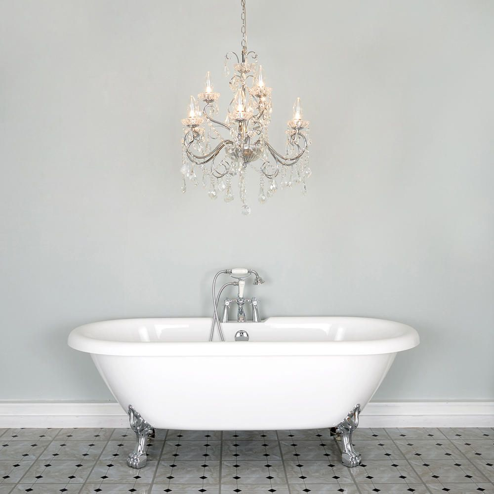 Bathroom chandelier w crystal glass beads and droplets 9 lights luxurious bathroom chandeliers uk arubaitofo Gallery
