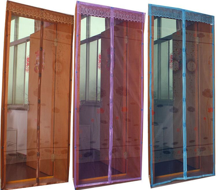 Summer Mosquito Curtain Picture Printing Magic Mesh Screen Door Mosquito  Net Magnetic Anti Mosquito Fly Bug Curtain