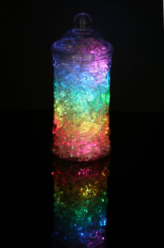 Rainbow Jar Rgb Pixel Strip Controlled Via Arduino Rainbow Jar Arduino