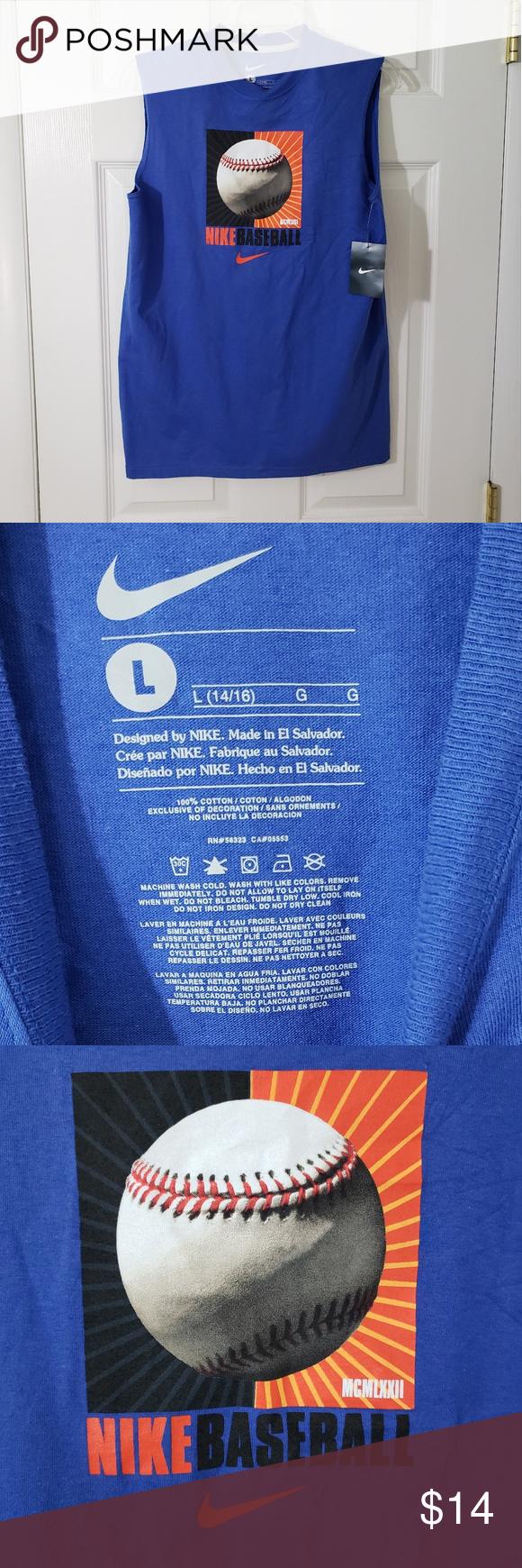 Boy's Nike Baseball Shirt