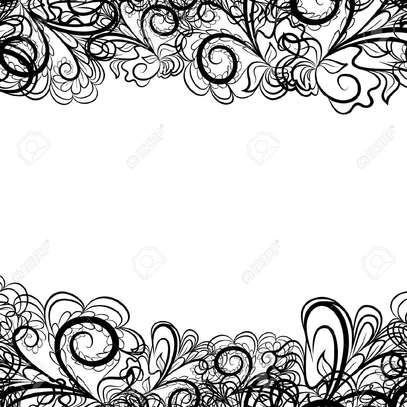 abstract black border like as lace against the white background rh pinterest com