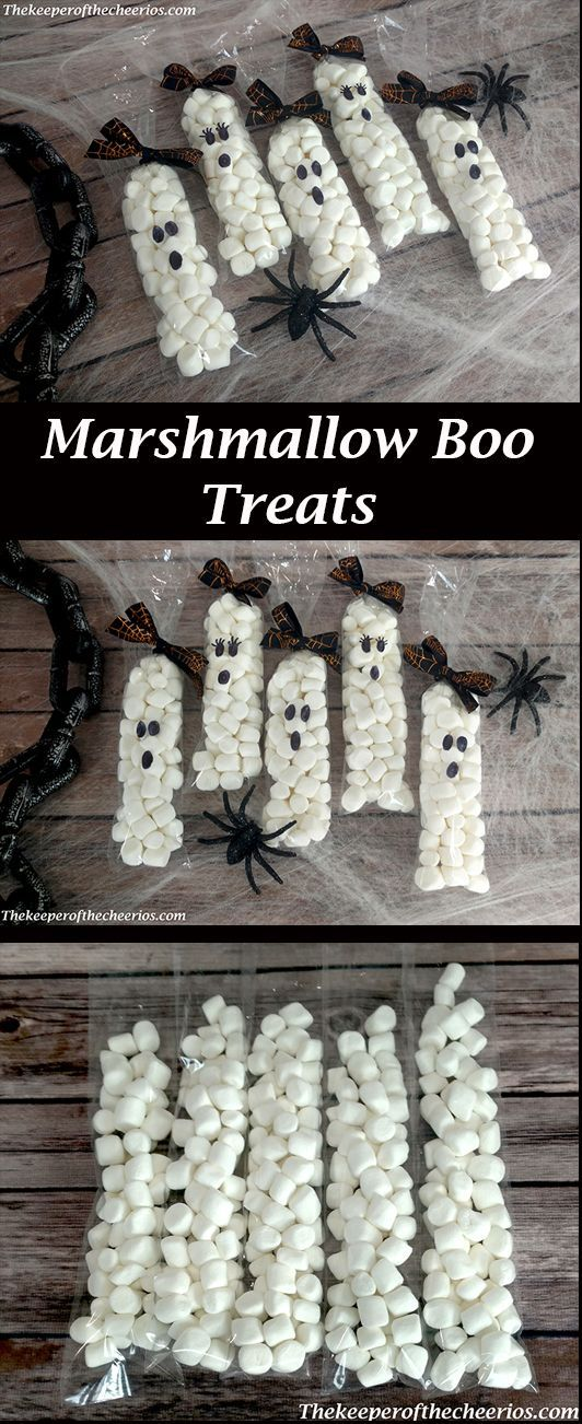 Marshmallow Boo Treats - The Keeper of the Cheerios #marshmallowtreats