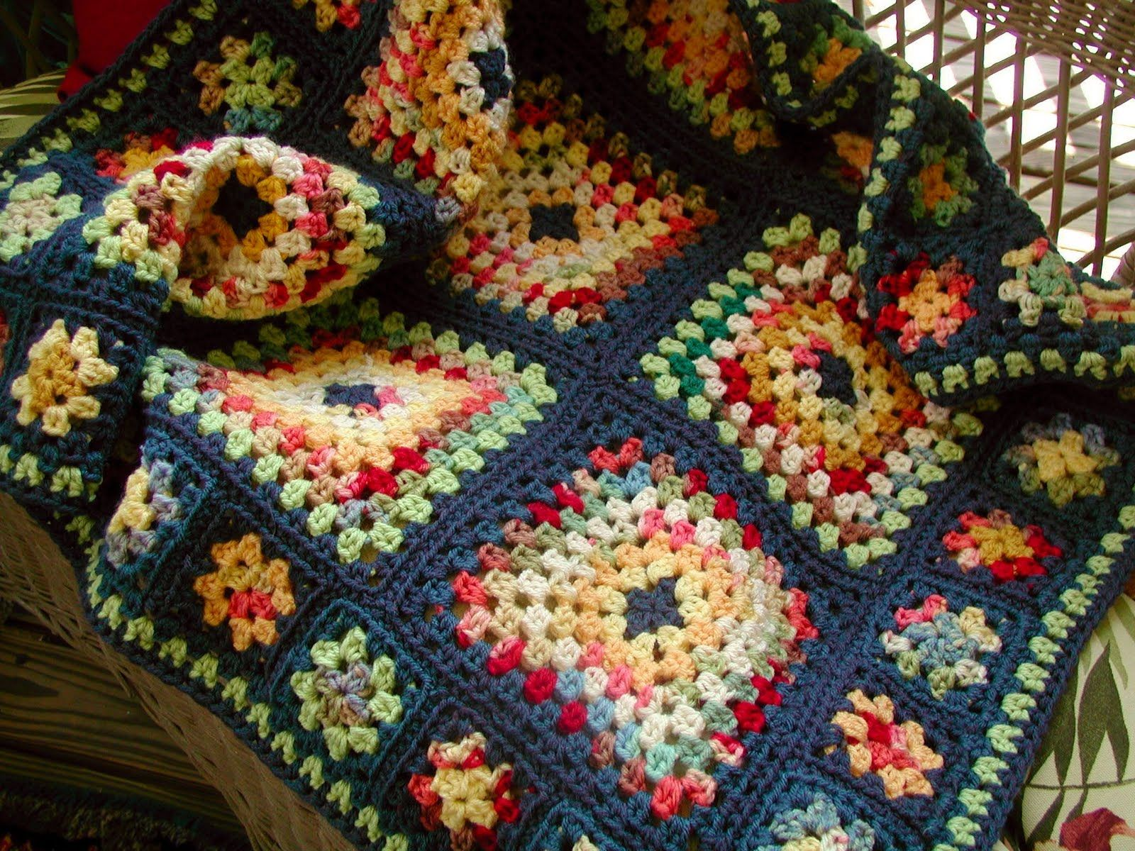 granny square afghan | Is your granny square? | Pinterest | Stricken ...