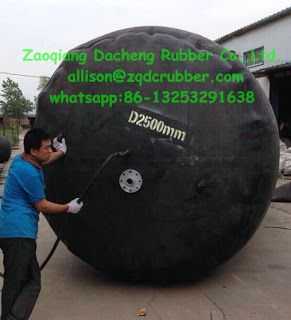 inflatable pipe plug(balloon type): D2500mm sewer pipe plug