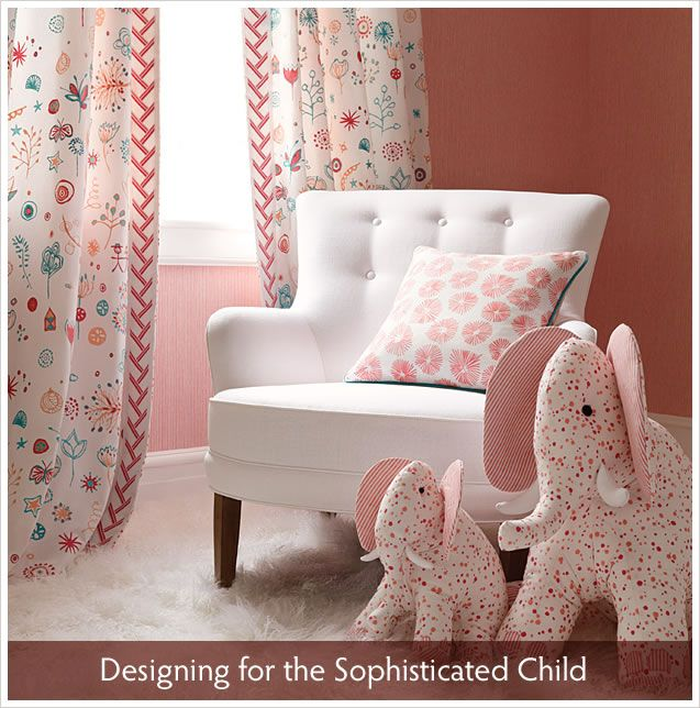 """Dying over the new fabrics in the Lulu DK for Schumacher line.  The """"Lollipop"""" pattern is perfect for a little girl!"""