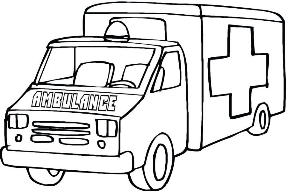 Ambulancia Para Colorear Children Coloring Ambulance Cars Coloring Pages Truck Coloring Pages