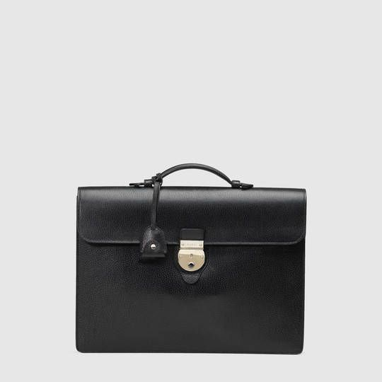 c39814a0e7f3 Gucci Leather flap briefcase | Men's leather bags | Bags, Briefcase ...