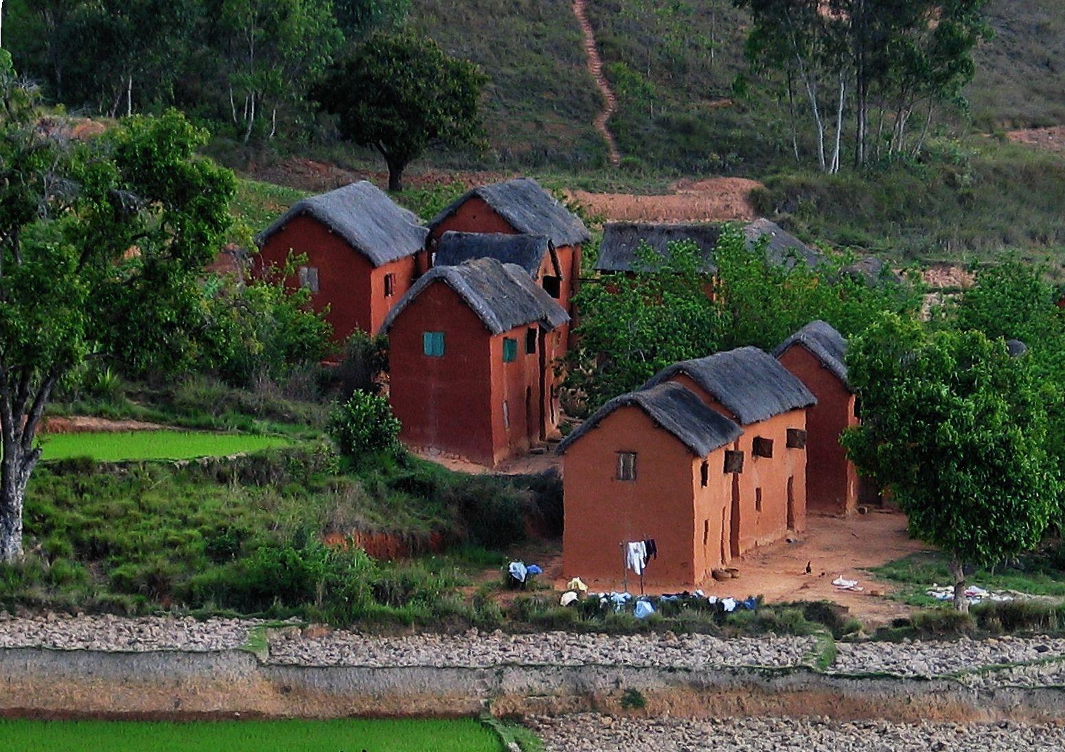 Village Des Hautes Terres Antananarivo Village Madagascar Terre