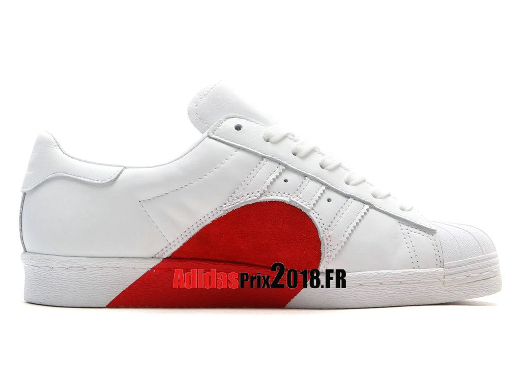 adidas superstar blanc rouge