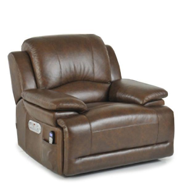 La Z Boy Gizmo Electric Recliner Cognac Brown Grey Leather
