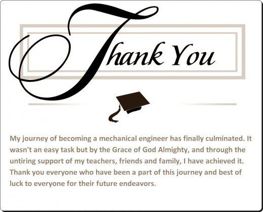 Sample Graduation Thank You Card Notes Note - thank you note