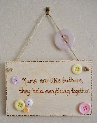 Handmade Personalised Wooden Plaque More Diy Gifts For Mom
