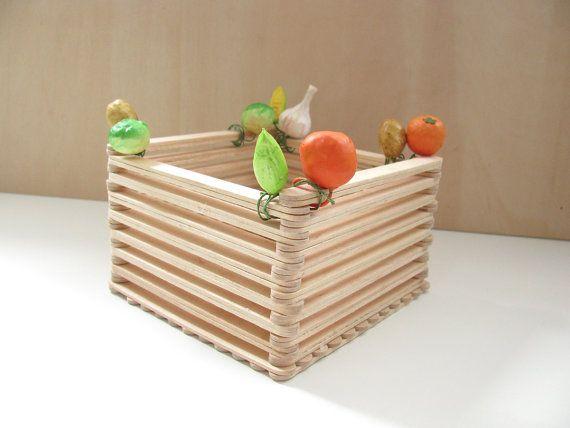 Popsicle-Stick Basket   DIY for the Home   Diy crafts for