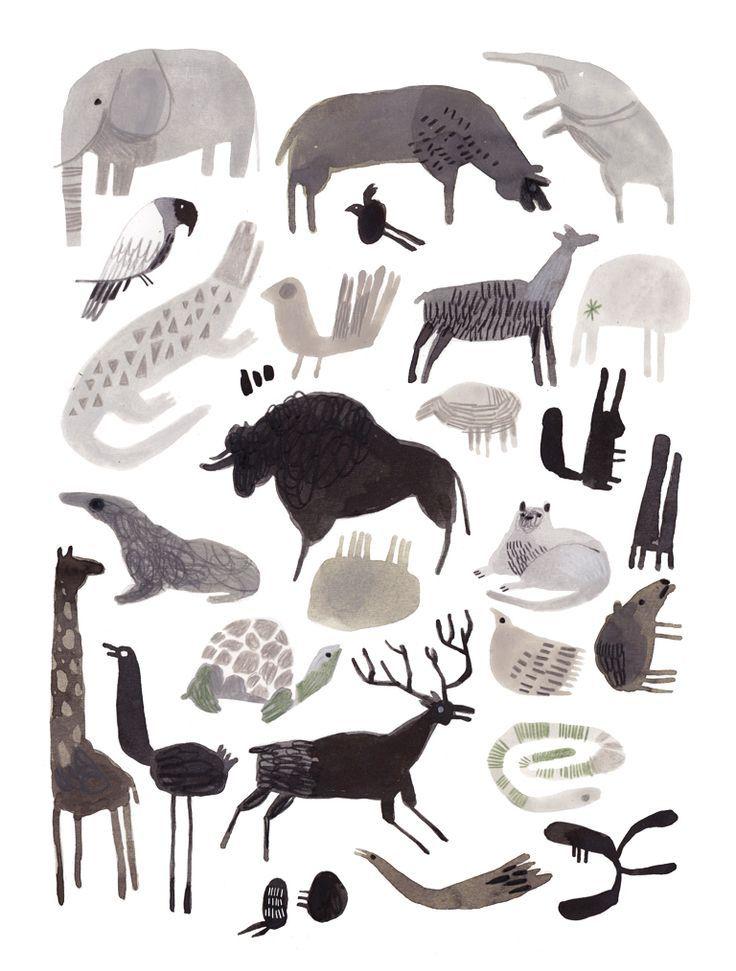 animaletti Art Print by Felicita Sala