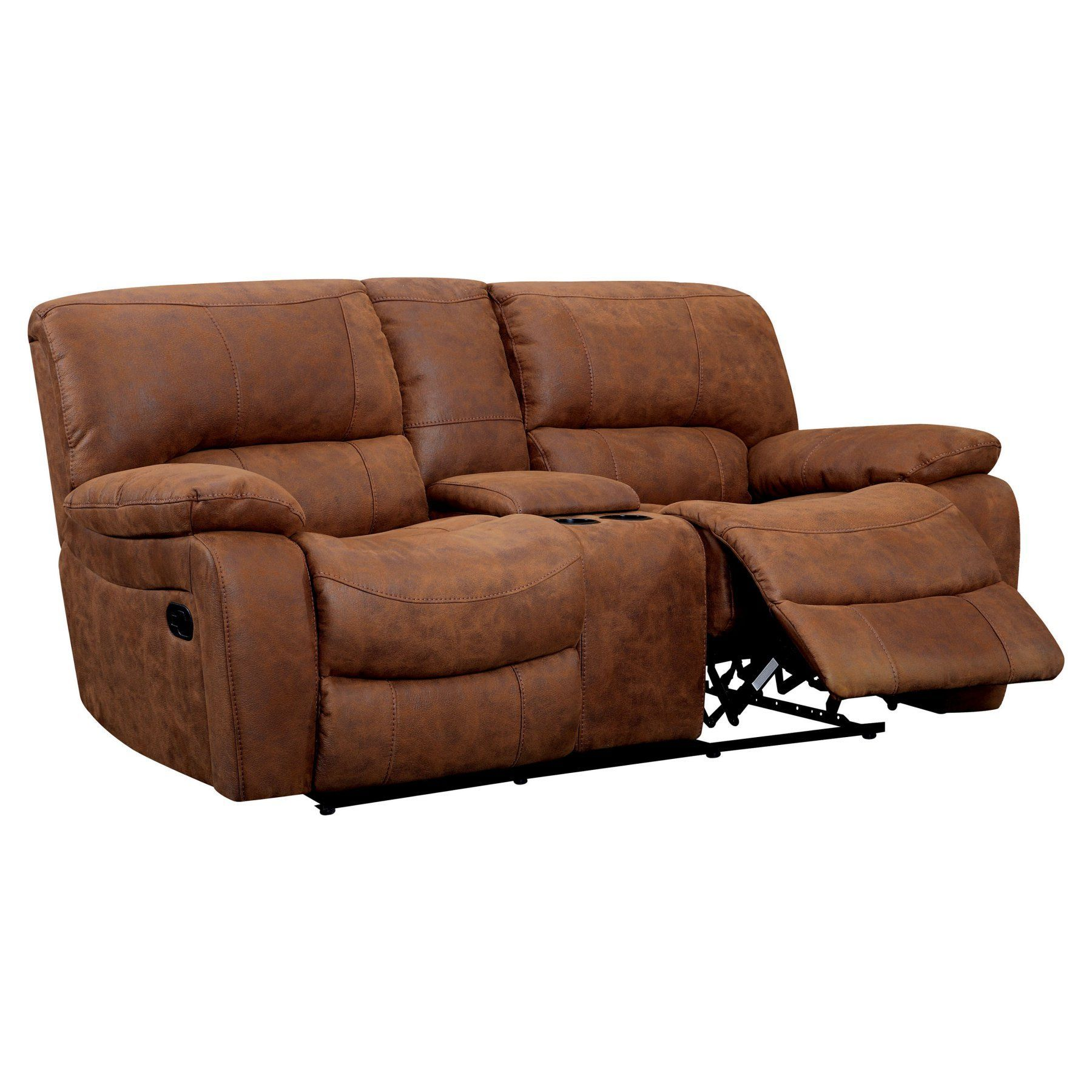 leather console loveseat covers reclining center info couch back and with brown sofa seewetterbericht recliner