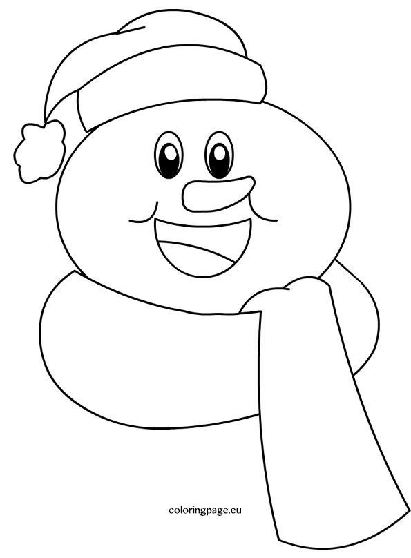 Winter Coloring Page Snowman Coloring Pages Snowman Quilt Winter