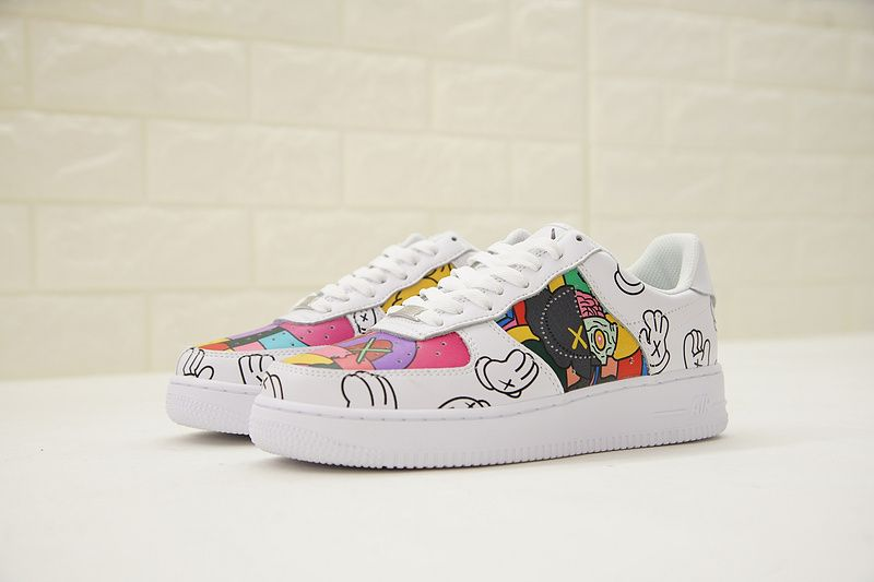 Bape x Kaws x Nike Air Force 1 White