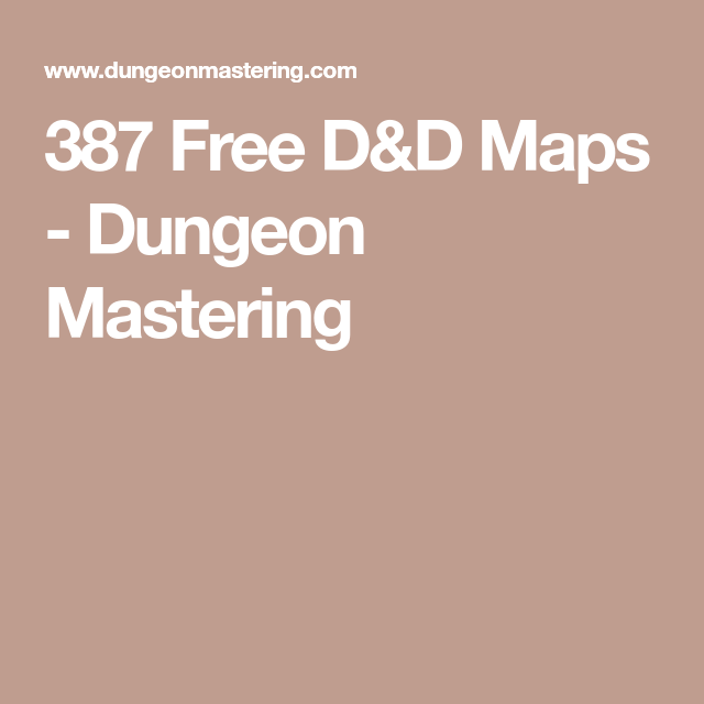 Dungeon Master, Map, Dungeon Master's