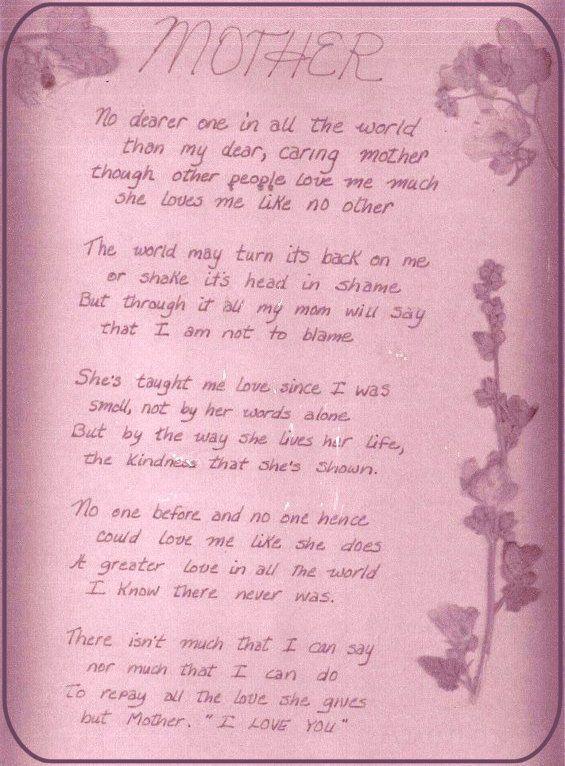 Thank you momma | In loving memory | Pinterest | Heaven poems ...
