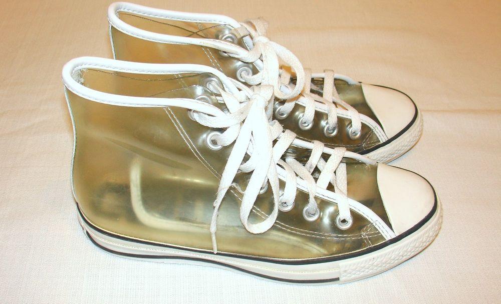 dcbf0da4ef87 Converse Clear Transparent Vinyl Plastic High Top Sneakers Chuck Taylor  Mens 5  converseallstar  AthleticSneakers