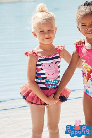 23b3eb48a8 Peppa Pig™ Tutu Swimsuit (Younger Girls) from Next | Sweet Child ...
