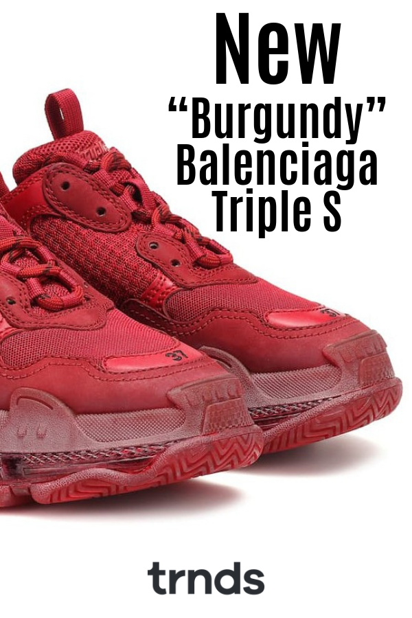 "The New ""Burgundy"" Balenciaga Triple S 