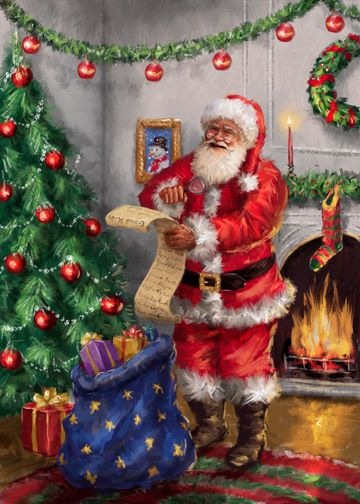 Image result for Father Christmas cards
