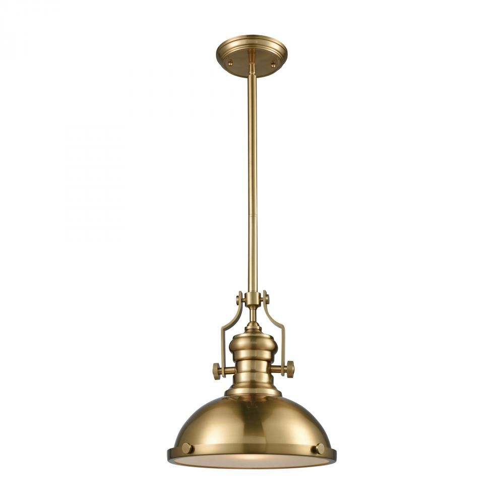 Chadwick light pendant in satin brass with fro m lighting