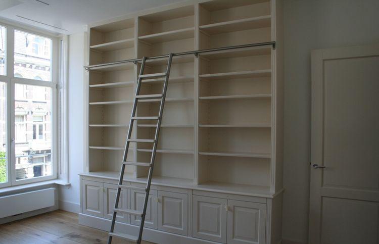 Boekenkast op maat   Woonkamer   Pinterest   Office spaces and Spaces