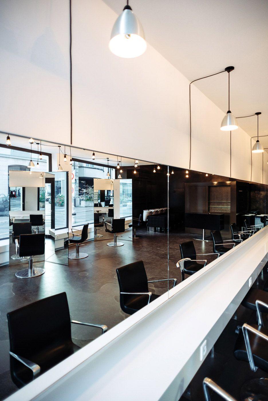 Barbershop seefeldstrasse by w lser bechtel architekten salon interior design ideas in 2019 for Salon interior design software