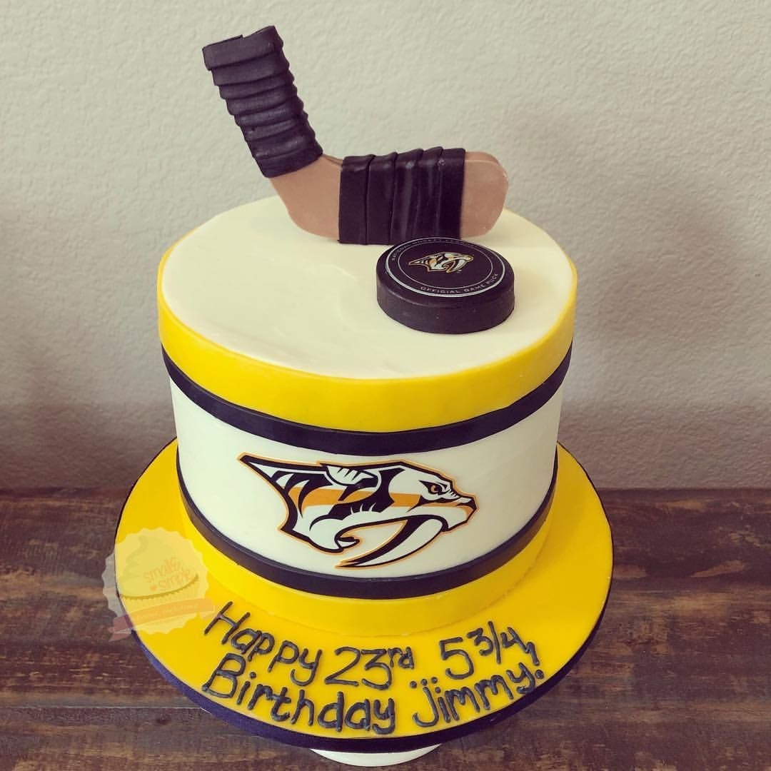 Nashville Predators Leap Year Birthday Cake