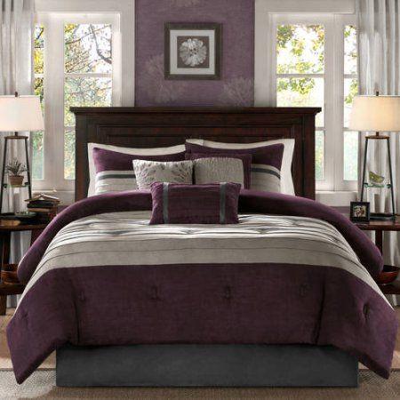 Home Essence Dakota 7-Piece Microsuede Comforter Set - Walmart.com