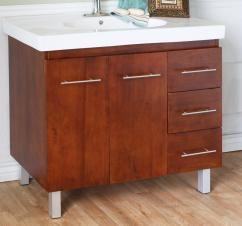 40 Inch Single Sink Bathroom Vanity With A Medium Walnut Finish Uvbh203129w40 Bathroom Sink Vanity Single Sink Bathroom Vanity Modern Bathroom Vanity